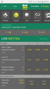 bet365 Livewetten App