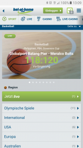 Mobiles Wetten bei Bet-at-home