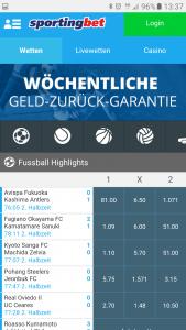 Sportingbet Neukunden Bonus 100% bis zu 150 Euro